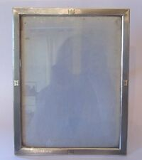 CADRE  en ARGENT MASSIF GUILLOCHE PORTE PHOTO DUCTH SOLID SILVER PICTURE FRAME
