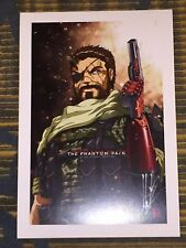 2016 WONDERCON METAL GEAR SOLID BIG BOSS ART PRINT SIGN BY JEFF MARTINEZ 13x19