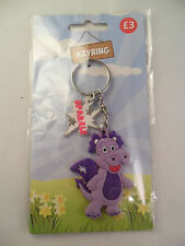 WRU WELSH RUGBY UNION WALES MASCOT SPARKLE PURPLE DRAGON KEYRING STOCKING FILLER