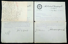 Central stamping co 1908 signed Letters usa des lettres d'Amérique (Lot i-189
