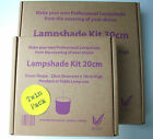 TWIN PACK DRUM LAMPSHADE MAKING KIT: 2 x 20CM, 30CM OR 40CM WITH DIFFUSER OPTION