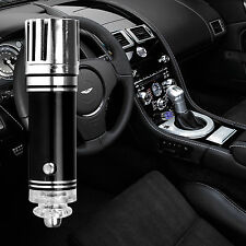 Mini Auto Car Fresh Air Ionic Purifier Oxygen Bar Ozone Ionizer Cleaner Black