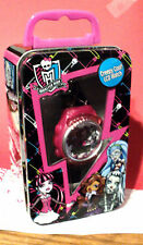MONSTER HIGH LCD GIRLS STAINLESS STEEL WATCH  NEW IN TIN