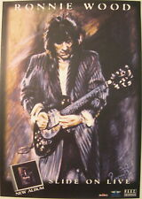 RON WOOD SLIDE ON THIS LIVE GERMAN PROMO POSTER 1997 ROLLING STONES