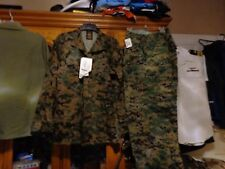 USMC MARPAT Uniform WOODLAND Combat Shirt & Pants size MEDIUM LONG  ML  NWT