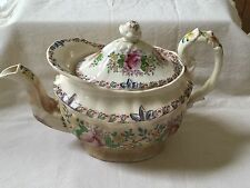 Soft Paste English Teapot C1820 (as is condition - stains)