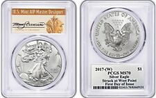 2017-(W) Silver Eagle MS 70 PCGS Thomas Cleveland First Day of Issue FDOI