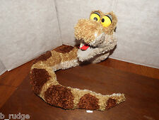 "La vendita RARO 39"" Long DISNEY JUNGLE BOOK Kaa SNAKE poseable Morbido Peluche Giocattolo Figura"