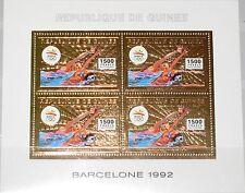 GUINEA 1992 Klb 1376 A GOLD Foil Olympics Barcelona Swimming Schwimmen Sport MNH