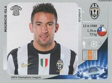 N°348 MAURICIO ISLA # CHILE JUVENTUS CHAMPIONS LEAGUE 2013 STICKER PANINI