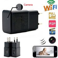 WiFi P2P 32GB 1080P Full HD Kamera Netzteil Ladegerät Spion Überwachung Spycam