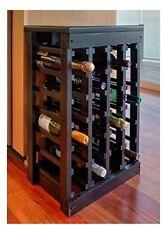 Wine Rack Storage Wood Cabinet Bottles Holder Shelves Stackable Bar Kichen NEW