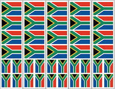 40 Reusable Stickers: South Africa Flag, S. African Party Favors, Decals