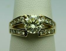Diamond Solitaire Ring 1 1/2ct center, 2.15cttw 14kt Y.G. Vintage1980's Beauty!!