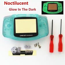 GBA Nintendo Game Boy Advance Replacement Housing Shell Screen Glow in The Dark!
