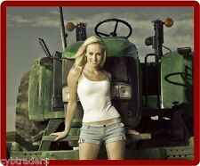 Sexy Model Posing With Tractor Refrigerator/Toolbox  Magnet