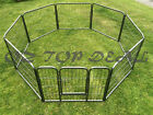 61cm 8 Panel Pet Dog Playpen Puppy Exercise Fence Enclosure Cage Cat Play Pen