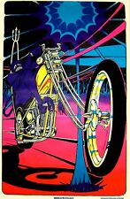 1960s Hell's Fury motorcycle black light poster replica magnet - new!