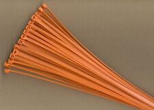 "100 14"" Inch Long 50# Pound ORANGE Nylon Cable Zip Ties Ty Wraps MADE IN USA"