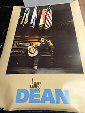 James Dean smoking on set of Giant 1955 discolored vintage wall poster PBX3092
