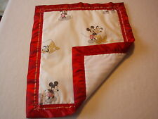 Handmade Baby bedding Small Mickey Mouse Padded Cover Red/ Cream - Moses Basket