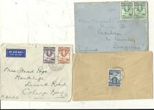 * 1939/44  GOLD COAST 3 COVERS   UK DIFF POSTAGE RATES 1d 3d & 1/3d ELMINA ACCRA
