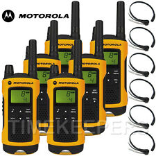 Motorola TLKR T80 Extreme Rugged All Weather Two Way Radios & Throat Mics Six