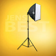 PHOTOGRAPHIC STUDIO LIGHTING FLUORESCENT SOFTBOX 32in WITH STAND AND BULB