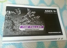 Transformers ROTF VOYAGER THE FALLEN INSTRUCTION BOOKLET ONLY