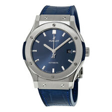 Hublot Classic Fusion Automatic Blue Sunray Dial Blue Leather Mens Watch