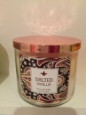 Bath And Body Works 3 Wick Candle  Salted Vanilla  25-45 Hour Burn