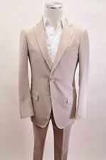 NWD. Ermenegildo Zegna Beige Suit Cotton Blend Size 48/38 US