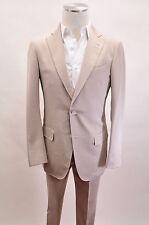 NWD. Ermenegildo Zegna Beige Suit Cotton Blend Size 48/38 US