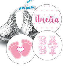 108 Baby Girl Shower Hershey Kiss Stickers Party Favors Decoration Pink