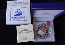 1997 francos plata prueba de Francia 1O Caja de Monedas + Certificado de autenticidad de la Copa del Mundo Francia 98 Italia Winn