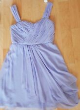 SUZI CHIN for MAGGY Boutique purple100% Silk Sleeveless Dress Size 12 NWT 129