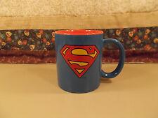 Superman DC Comics Coffee Cup Mug Blue Marvel Superhero  NWOB