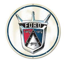 Ford 1950 Crest Logo Classic Car Werbung Retro Vintage Sign Blechschild Schild