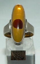 Ring aus 830 Silber mit Bernstein/Amber, Gr. 58,5/Ø 18,5 mm  (da4189)