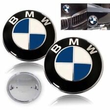 BMW Emblem Hood 82/73mm Trunk Logo Badge ( LOT Of 2 )