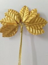 12 Very Pretty Gold Rose Leafs
