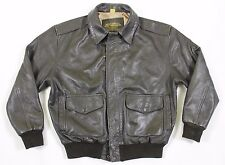 Vtg U.S. Army Air Force Type A-2 MSN 8415 Sz M Flyer's Leather Jacket Brown