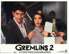 ZACH  GALLIGAN  PHOEBE CATES GREMLINS 2 1990 VINTAGE LOBBY CARD ORIGINAL #7