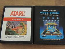 2 Atari 2600 Spiele  Centipede und video pinball