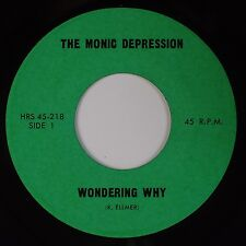 THE MONIC DEPRESSION: Wondering Why '67 Psych Garage MONSTER Unknown 45 Hear