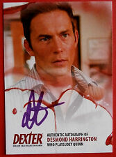 DEXTER - Series 5 & 6 - DESMOND HARRINGTON Autograph Card - ADH1 PURPLE VARIANT