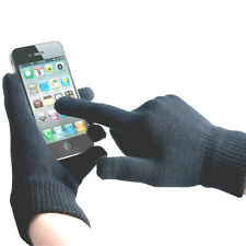 2 X BLUE MEN'S LADIES TOUCH SCREEN GLOVES CONDUCTIVE  FOR OPERATING DEVICES