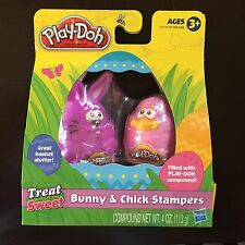 NEW Play Doh Easter Bunny & Chick Stampers Set Modeling Clay Holiday Pink