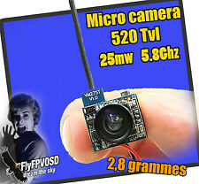 Micro camera 520TVL 5.8Ghz 25mW mini transmitter FPV  quadcopter whoop e010