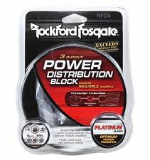 ROCKFORD FOSGATE RFD4 0/1/4-Gauge AWG 1-In 3-Out Car Audio Distribution Block
